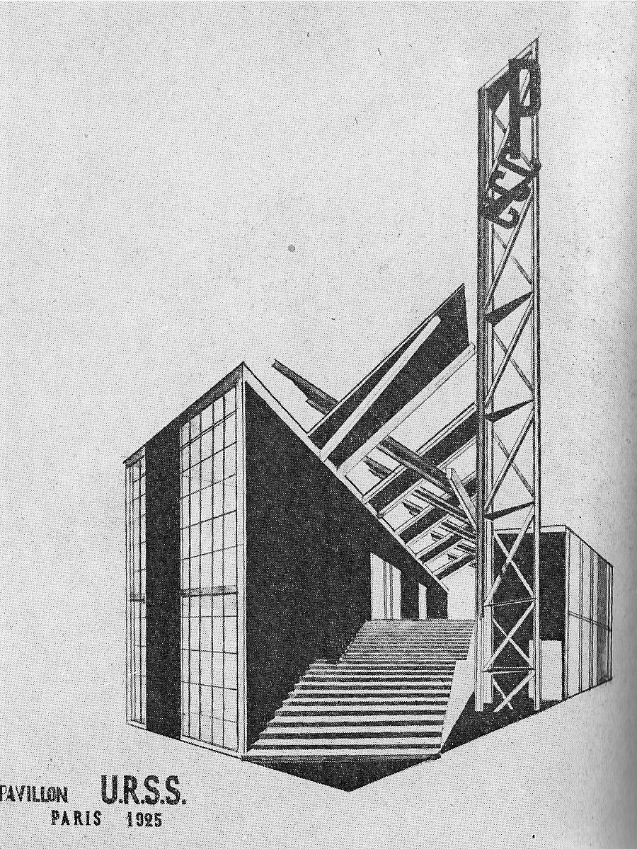Ussr pavilion by melnikov 1925 at constructivism for Architecture urss