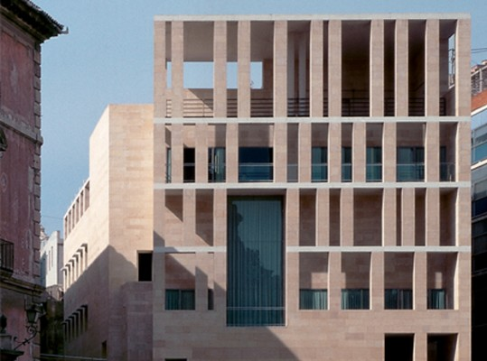 Edificio murcia rafael moneo arquitectura en red - Arquitectos murcia ...