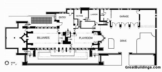 Robie House Plan Section Elevation | Home Interior Design