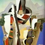 paisaje zapatista 1915, diego rievera