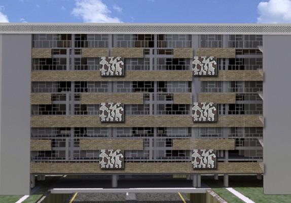 Los materiales en el multifamiliar juarez arquitectura - Materiales de construccion para fachadas ...