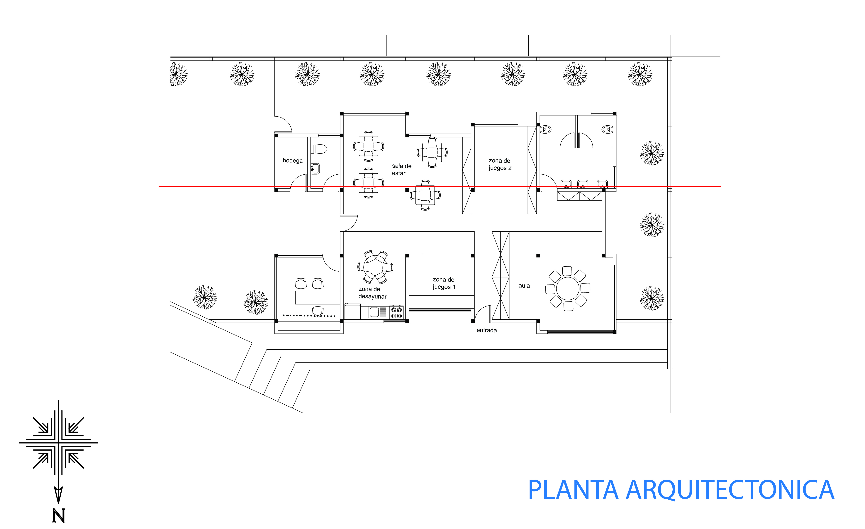 Luis alberto arquitectura en red for Plano escuela infantil